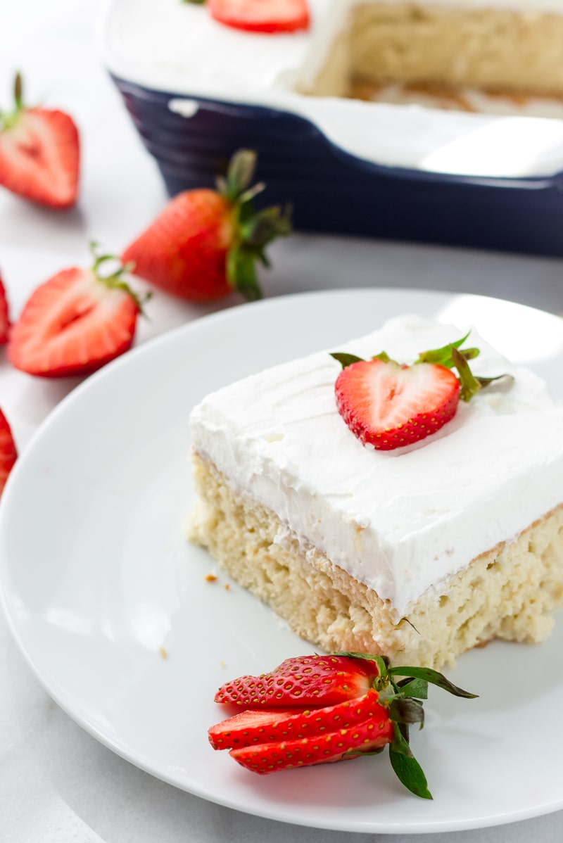 Easy Mexican Tres Leches Cake with Cinnamon