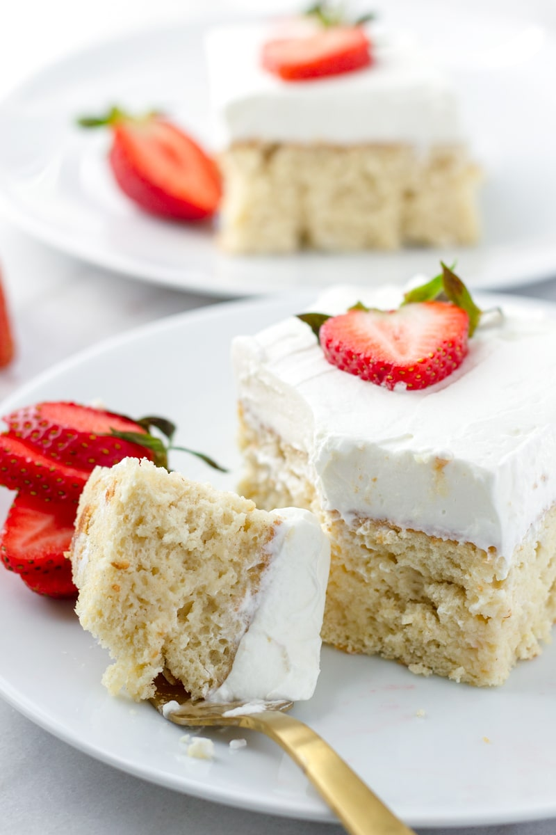 Easy Tres Leches Cake with Strawberries