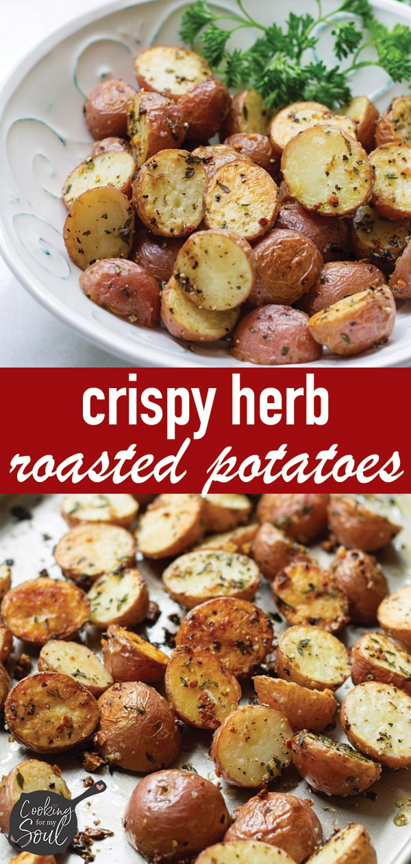 Crispy Rosemary Garlic Roasted Potatoes