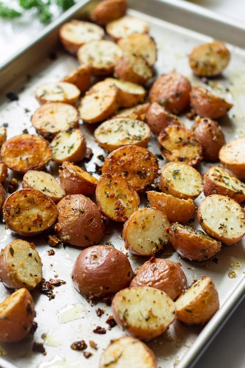 Sheet Pan Herb Roasted Baby Potatoes