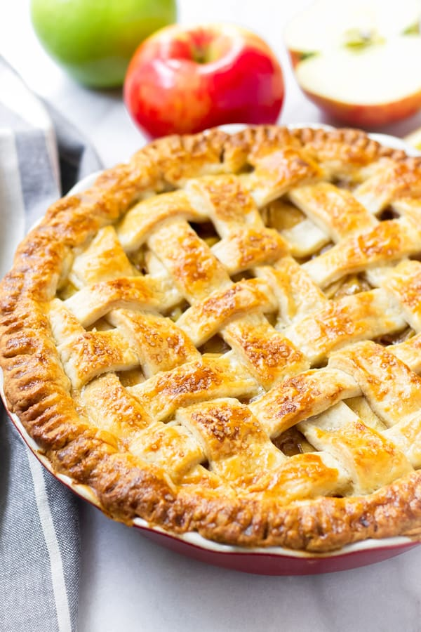 Baked Apple Pie Lattice