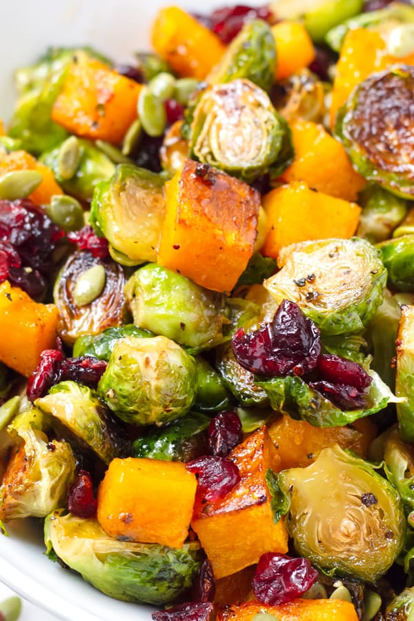 roasted brussels sprouts butternut squash