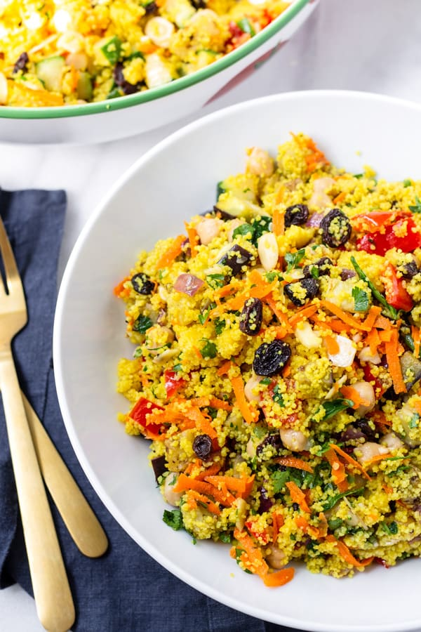 Easy Moroccan Couscous Salad with Raisins