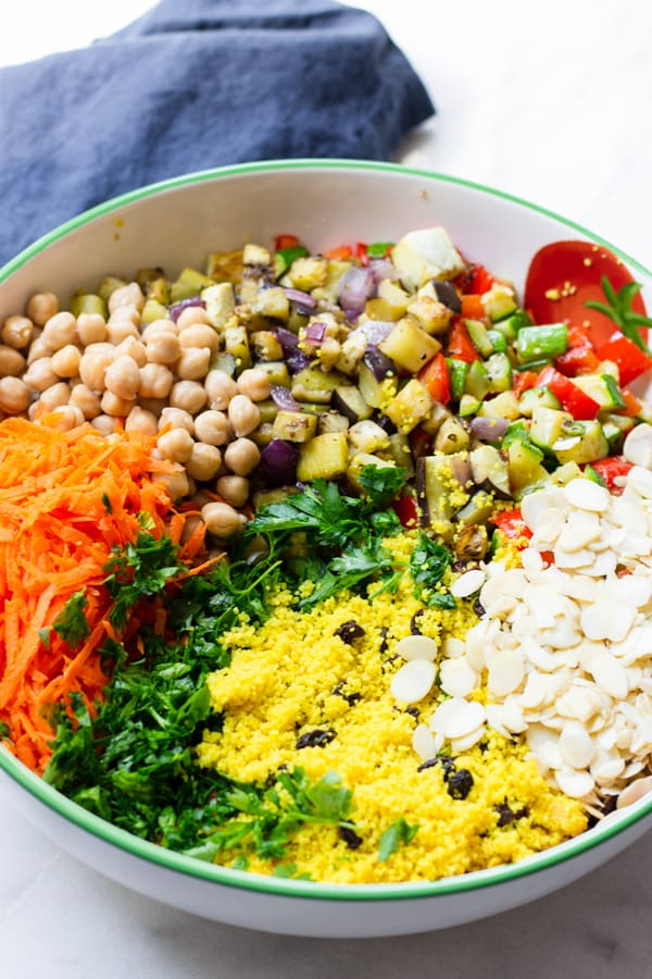 Moroccan Couscous Salad Recipe with Dressing