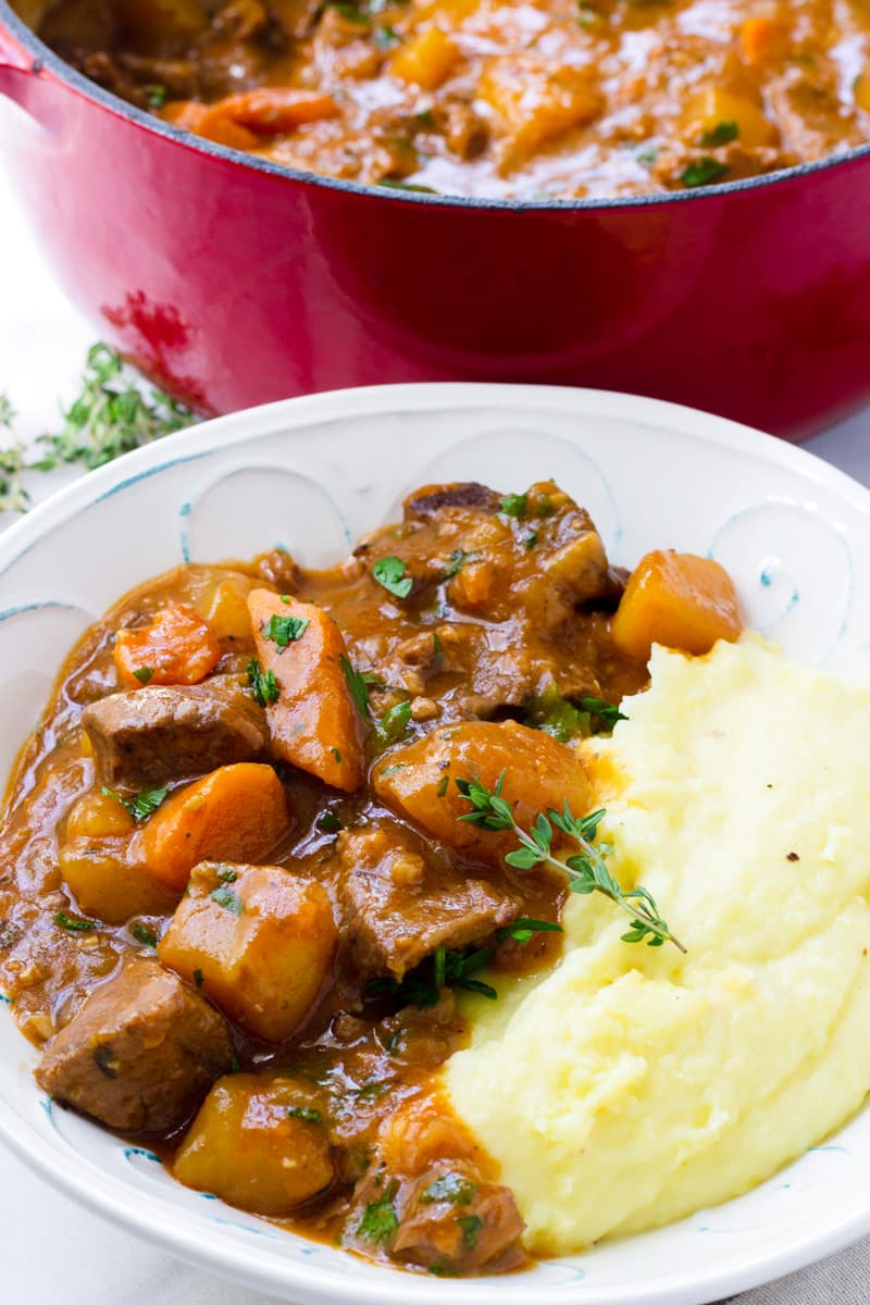 Classic Beef Stew with Mashed Potatoes