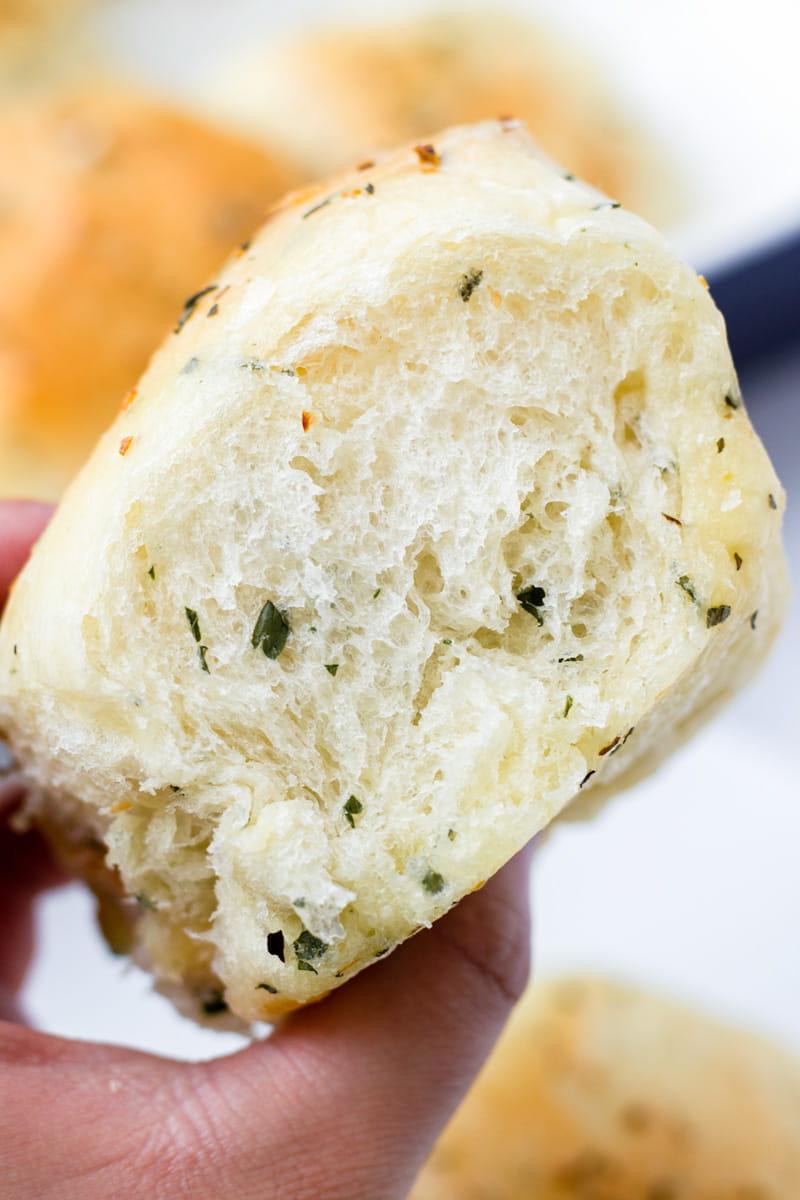 Pillowy Soft Herb Dinner Rolls Buttery
