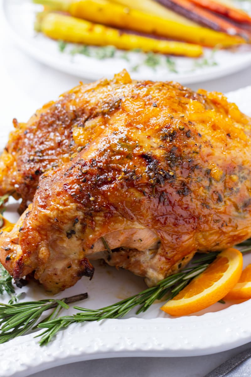Brined Turkey with Orange Marmalade Glaze