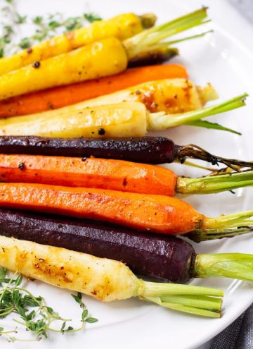 Rainbow Carrots Roasted Maple