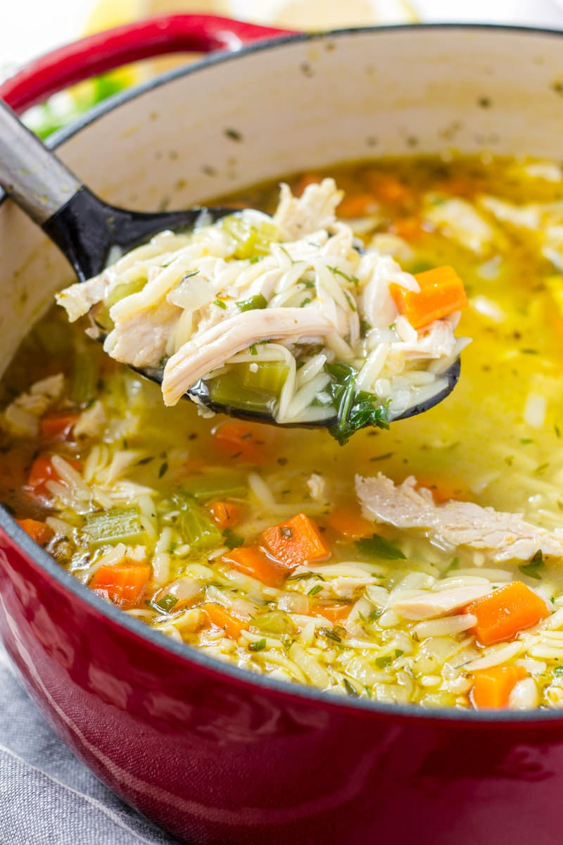 Turkey Vegetable Soup with Orzo Noodles