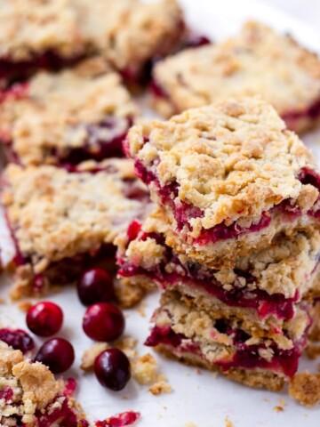 Sweet Cranberry Crumb Bars Recipe