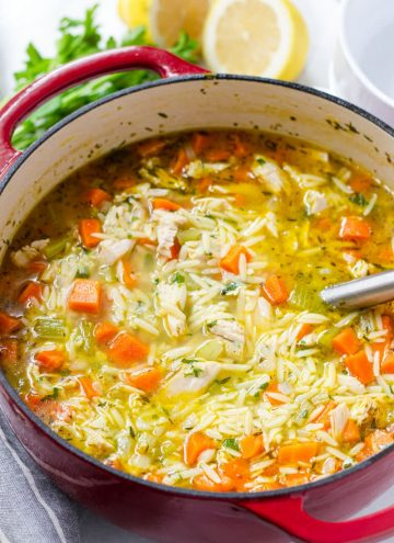 Orzo Soup with Leftover Thanksgiving Turkey