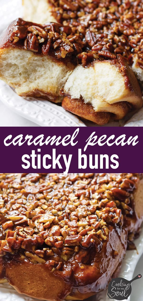 Caramel Pecan Sticky Buns Inverted