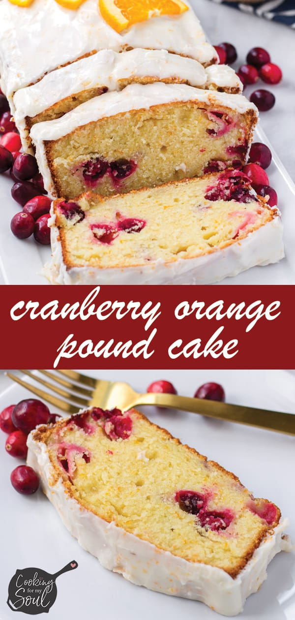 Orange and Cranberry Pound Cake for Christmas