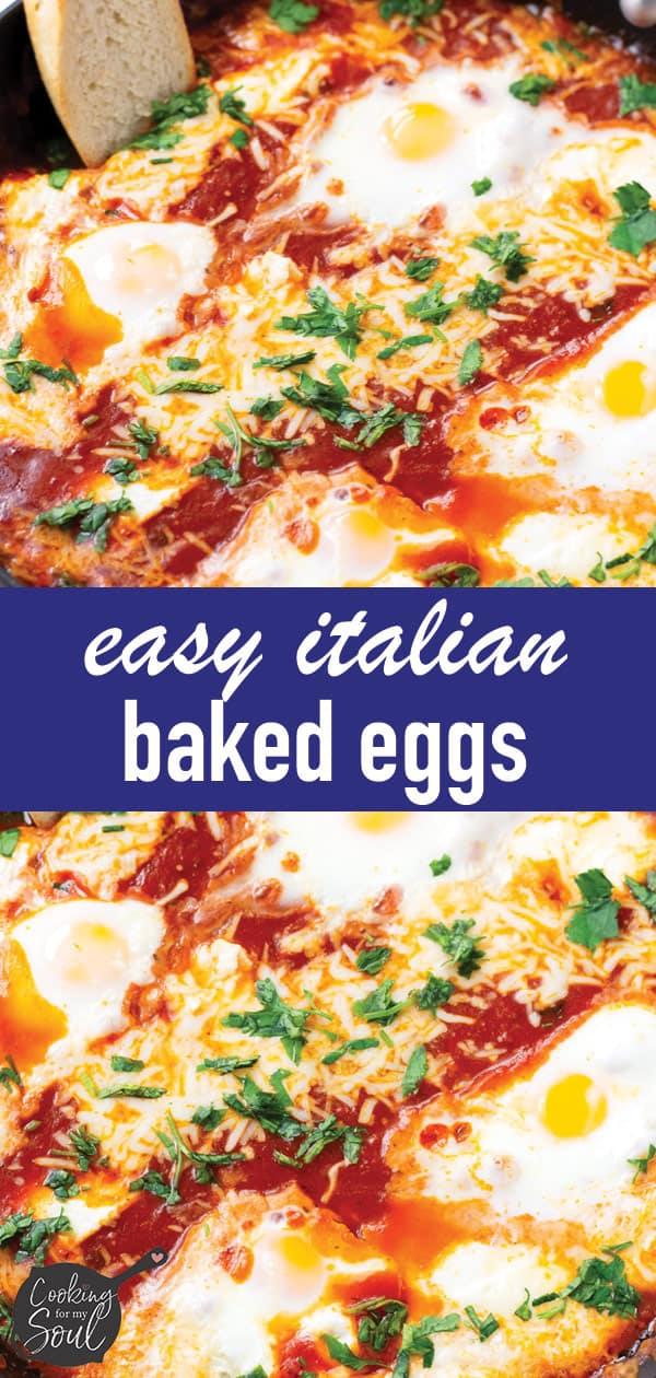 Easy Italian Baked Eggs Skillet