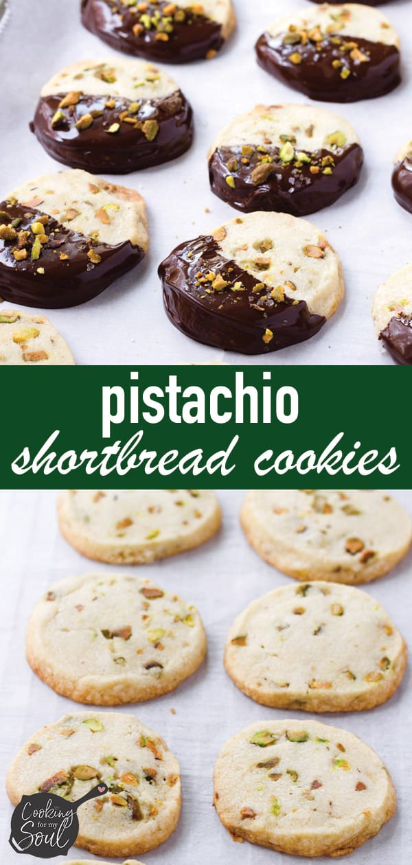 Pistachio Shortbread Cookies Dark Chocolate