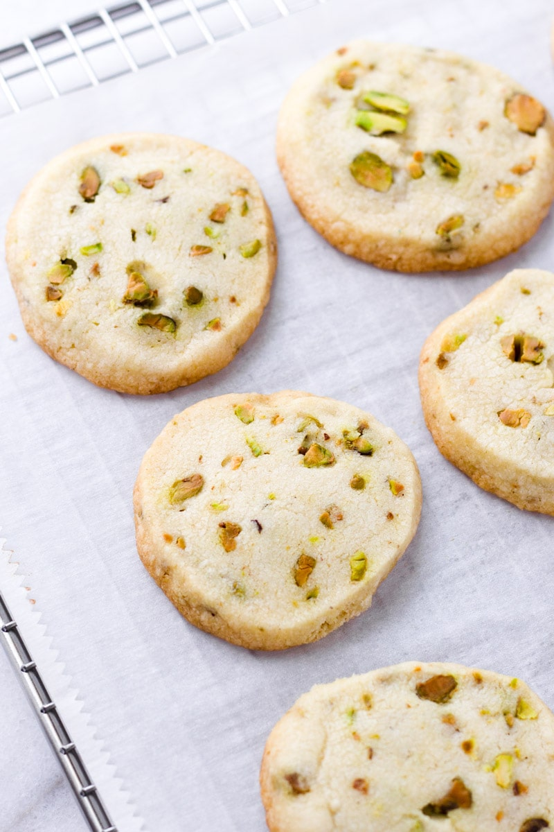 Pistachio Shortbread Cookies Easy