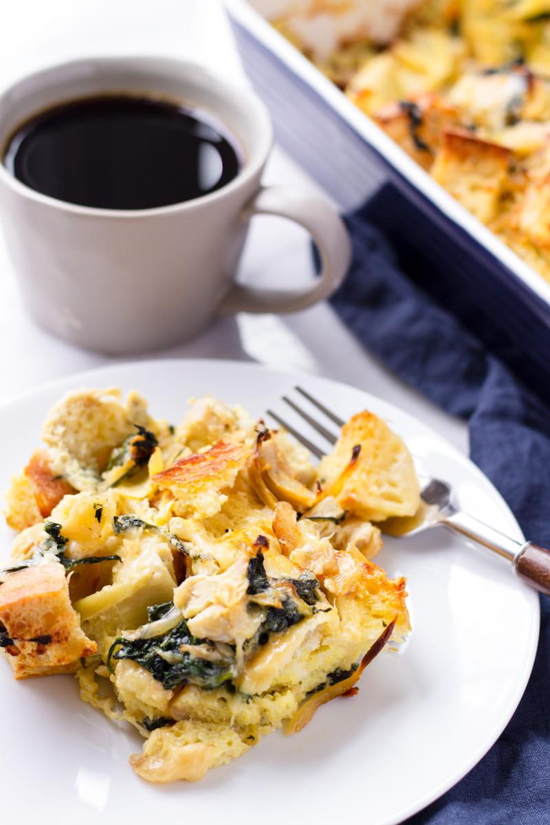 Spinach and Gruyere Strata Recipe