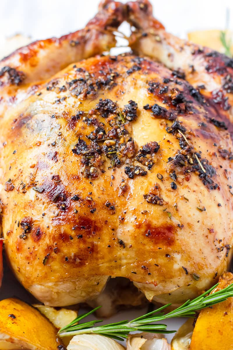 Lemon Rosemary Whole Chicken Oven Roasted