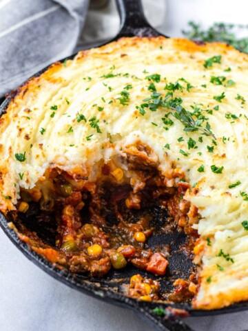 Cast Iron Skillet Shepherd's Pie Recipe