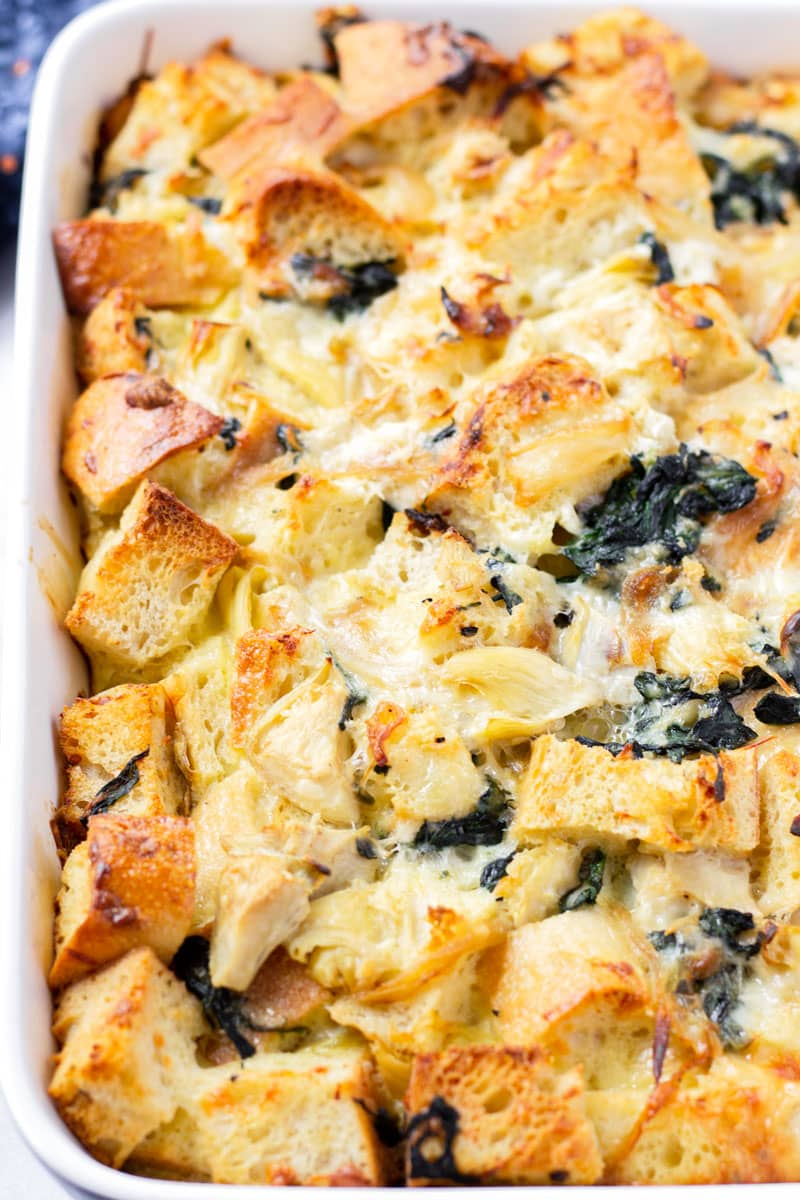 Baked Spinach Strata Recipe
