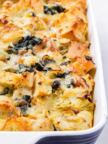 Spinach and Artichoke Strata with Cheese