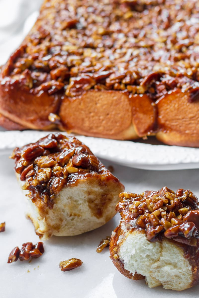 Cinnamon Pecan Sticky Buns with Caramel