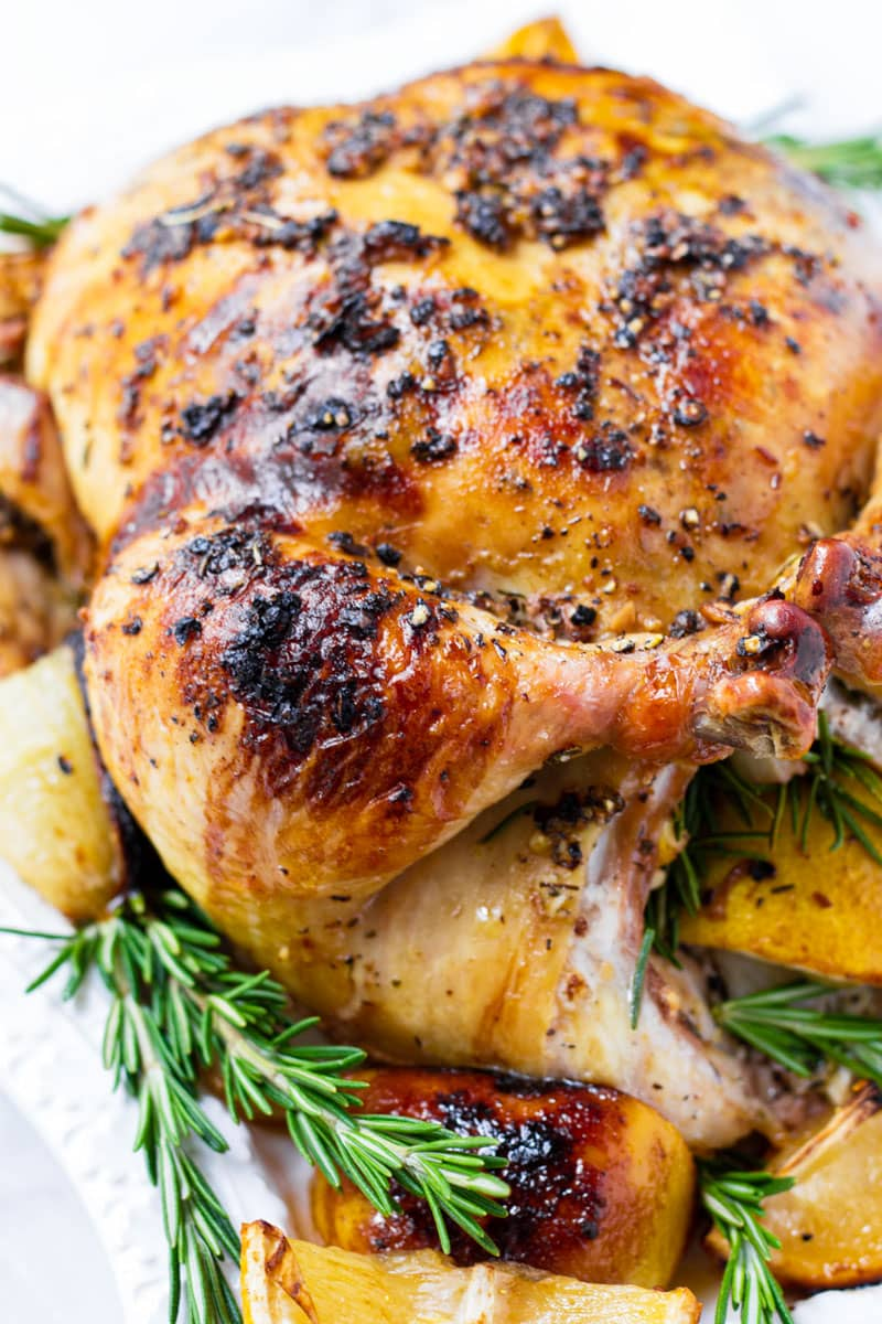 Roasted Whole Chicken with Rosemary and Lemon