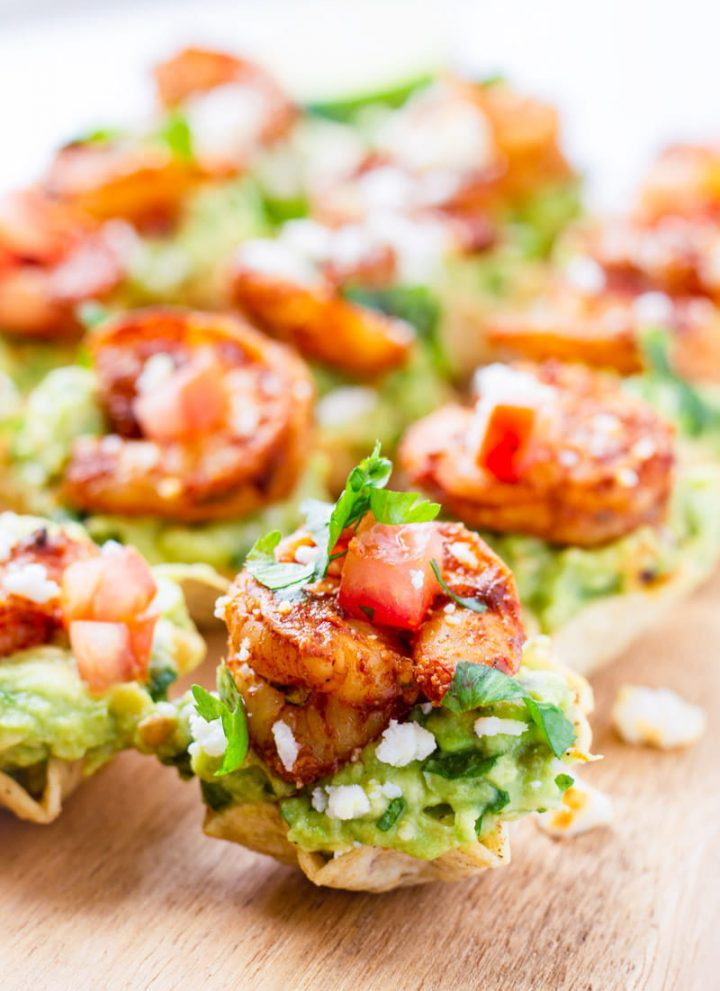 Chili Lime Shrimp Cups with Fresh Guacamole