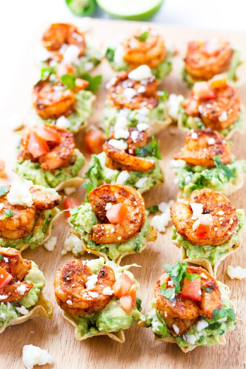 Shrimp Guacamole Bites for a Party