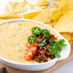 Slow Cooker Chorizo Queso Dip