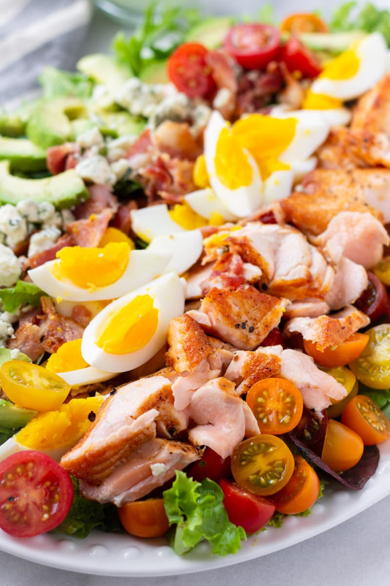Seafood Cobb Salad Make Ahead