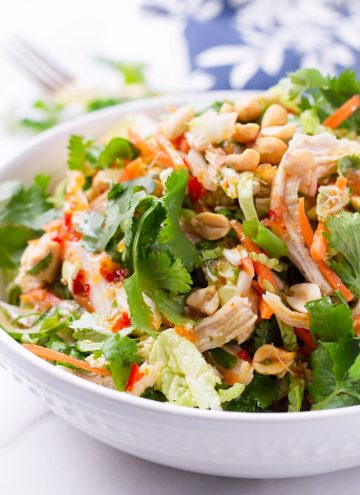Chicken Salad with Cabbage, Carrots, and Cilantro