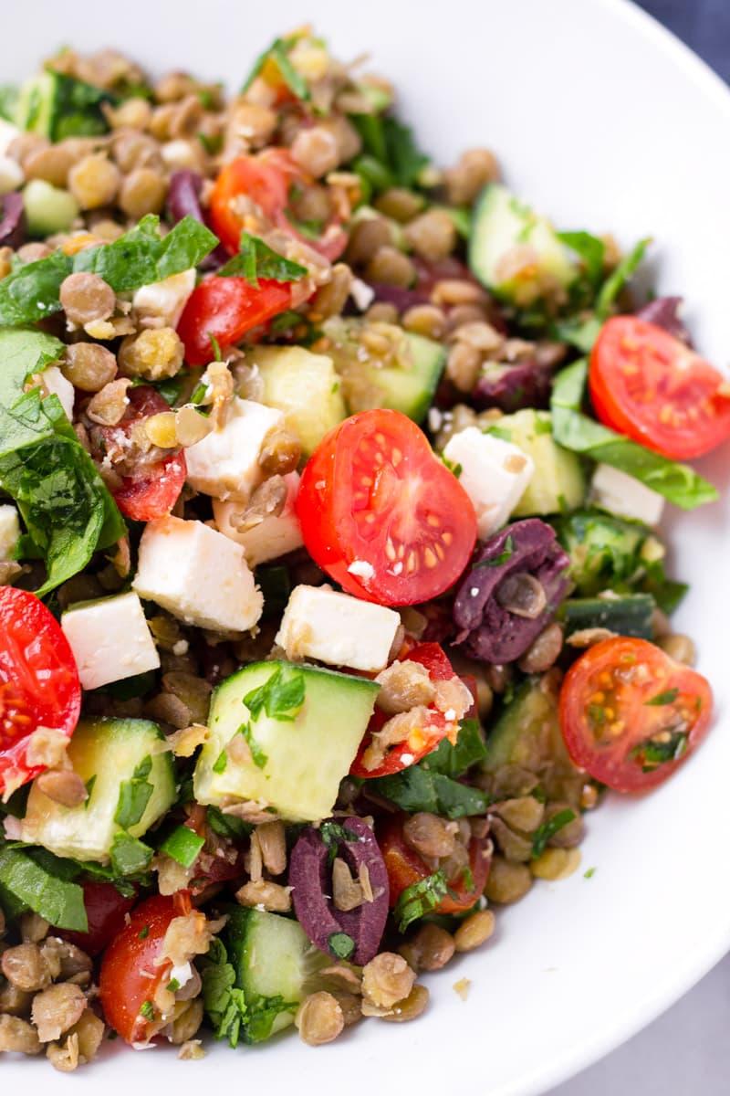 Lentil Salad Greek Style