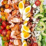 Salmon Cobb Salad Platter