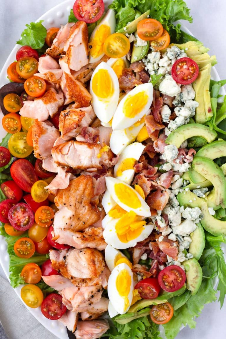 Salmon Cobb Salad Platter