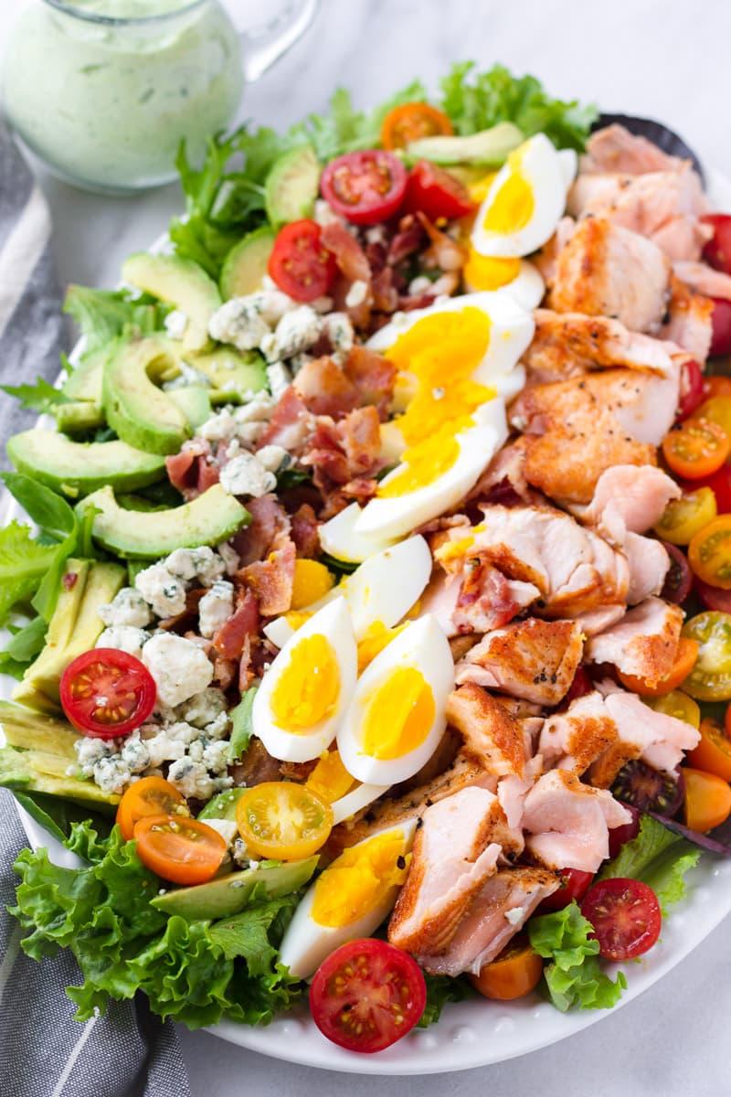 Salmon Cobb Salad Ingredients