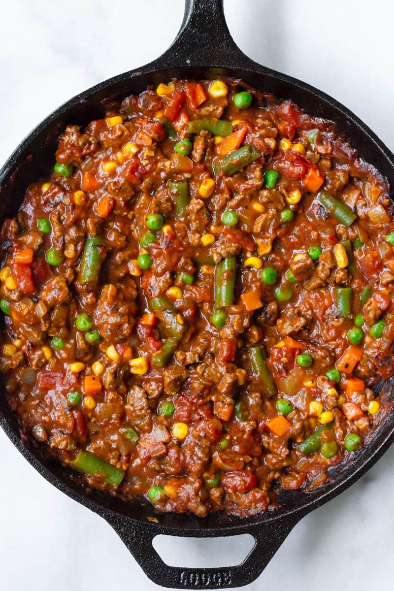 Shepherds Pie Beef Filling with Vegetables