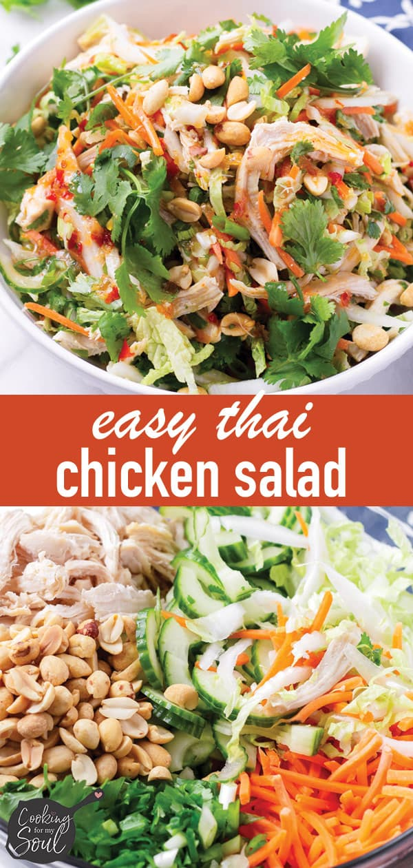 Crunch Asian Salad with Sweet Chili Dressing