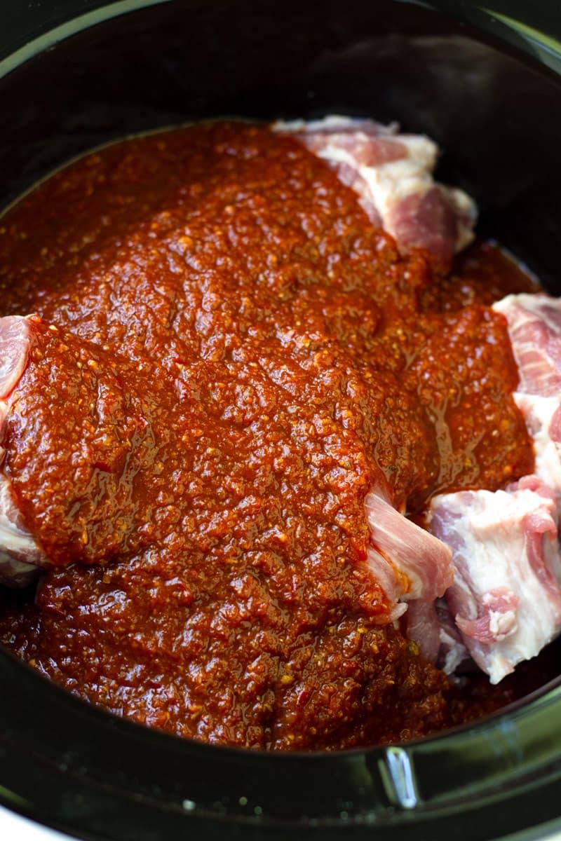 Dark Orange Al Pastor Marinade for Pork Meat