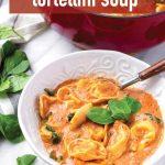 Pin for Creamy Tomato Soup with Tortellini Recipe