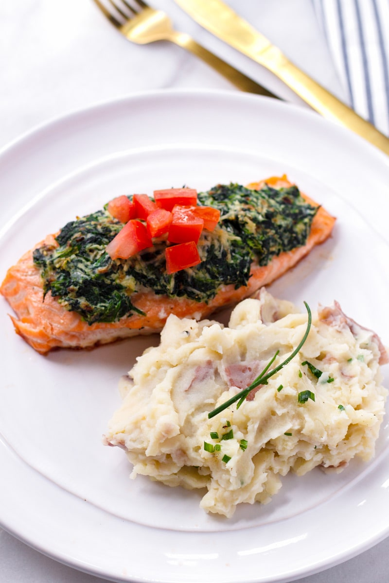 Salmon with a Side of Mashed Potatoes
