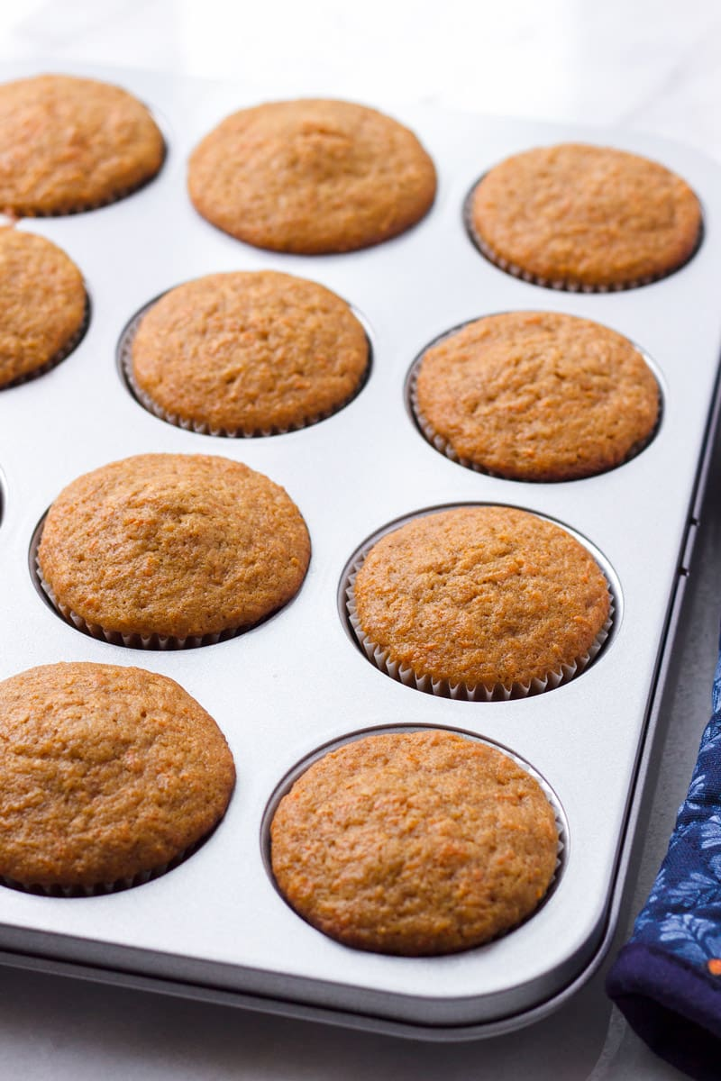 Freshly Baked Cupcakes in a Muffin Tin