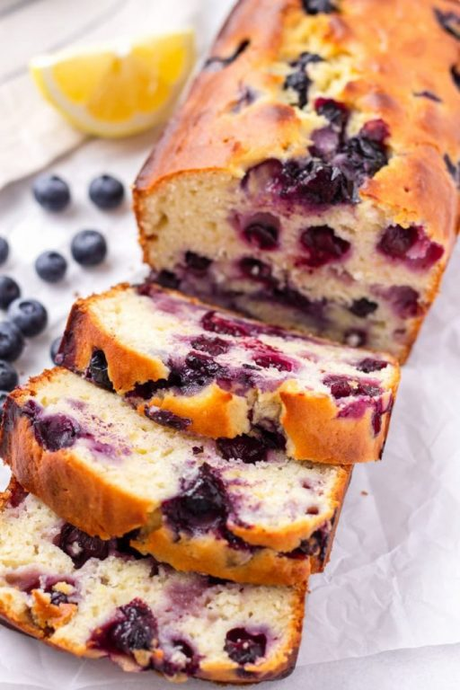 Sliced Up Lemon Blueberry Quick Bread