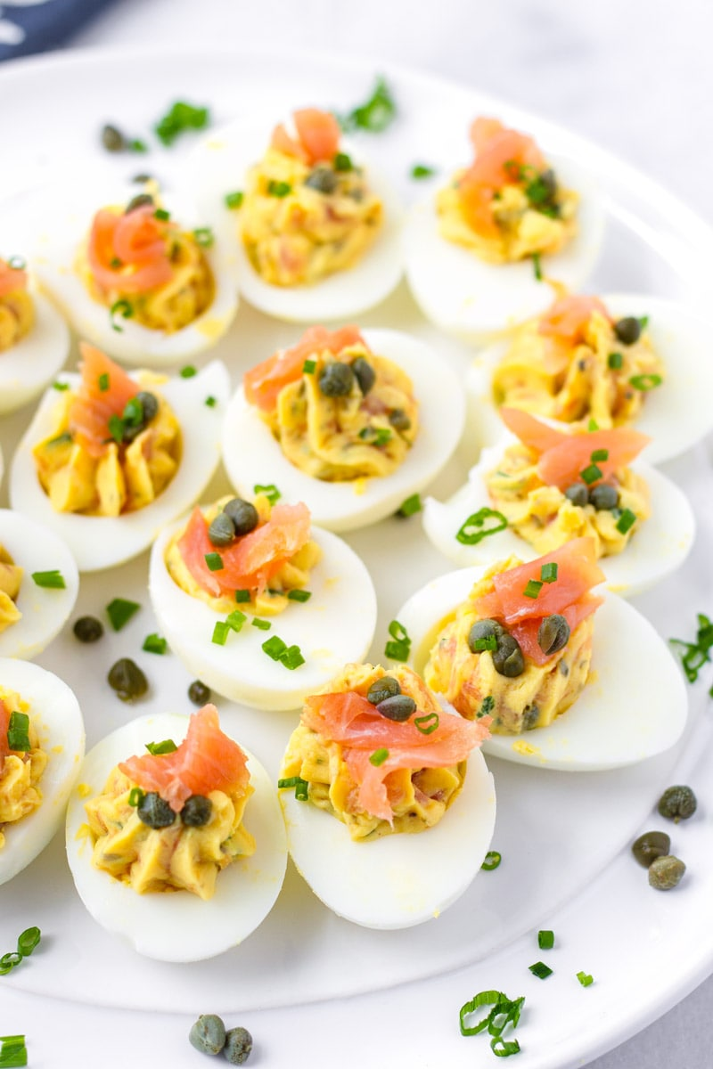 Egg Appetizers with Capers and Chives