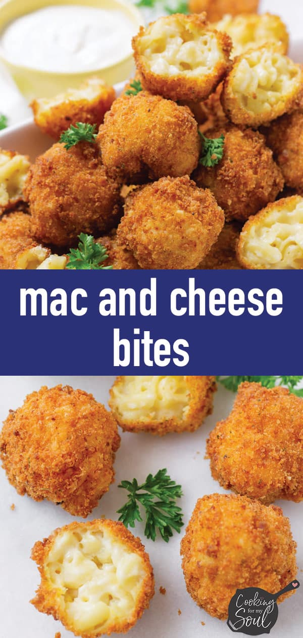 pin image design for mac and cheese bites