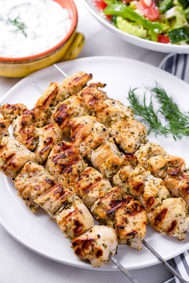 Greek Chicken Kabobs Cooking For My Soul