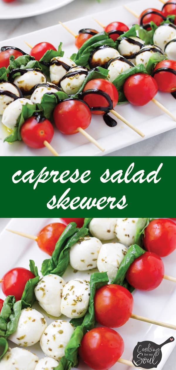 pin image design for caprese salad appetizers