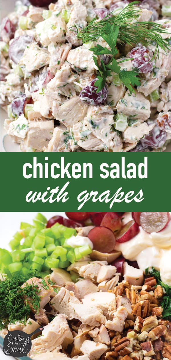 pin image design for chicken salad