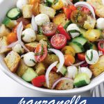 pin design for panzanella salad recipe