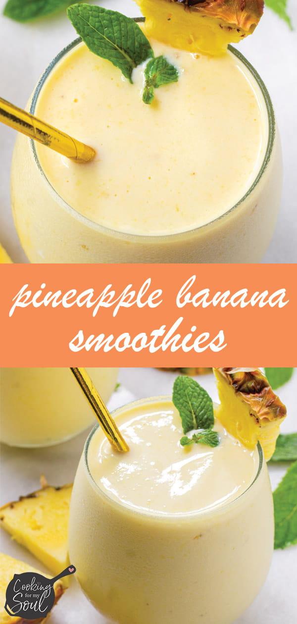 pin design for pineapple banana smoothie